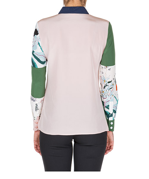 Women's shirt long sleeve patchwork secondary image