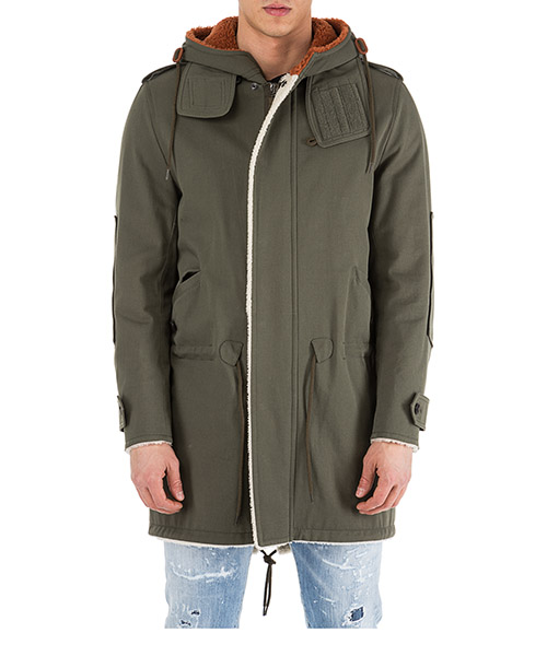 Men's outerwear jacket blouson cappuccio