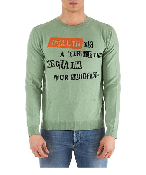 Pullover Valentino jamie reid nv0kc23n4n9 verde