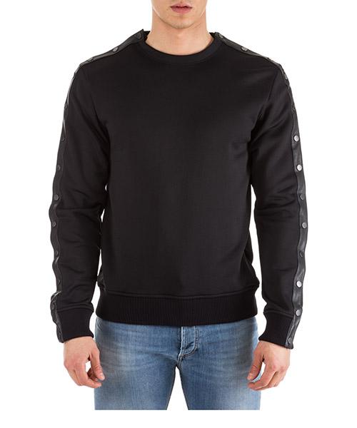 Sweatshirt Valentino nv0mf07i4fs 0n0 nero