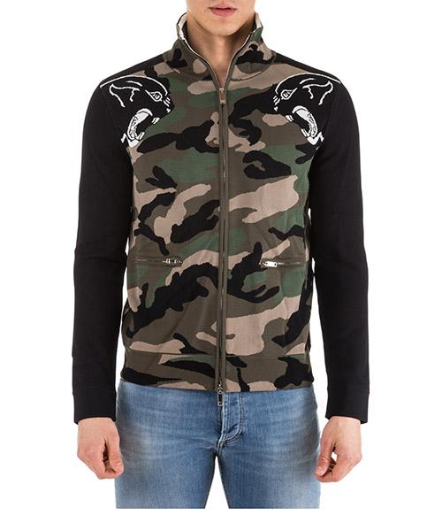 Sweatshirt mit Zip Valentino nv3ke02m4gs verde