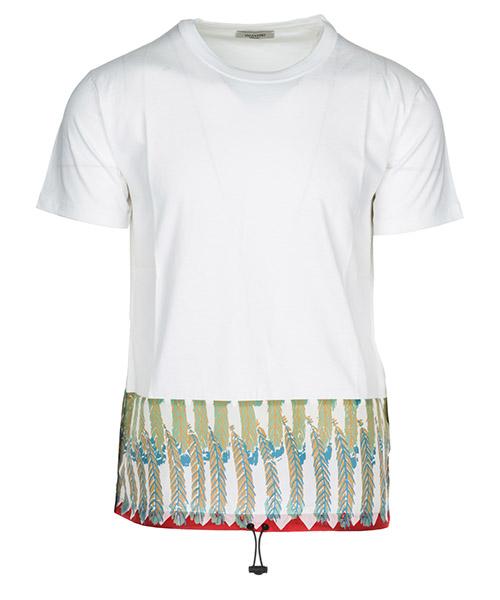 T-shirt Valentino PV0MG11B51P01L bianco