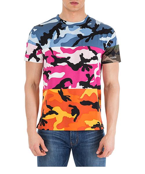 Camiseta Valentino Camouflage QV3MG12X3M0 09T multicolor