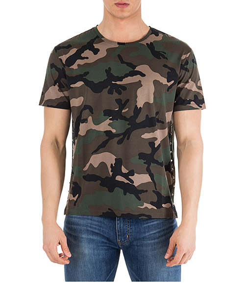 T-shirt Valentino Camouflage QV3MG13A3M0 F00 camouflage