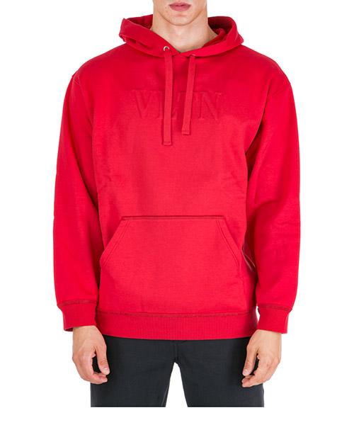 Hoodie Valentino VLTN RV3MF00QTZE 157 rosso