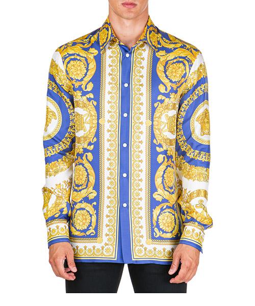 Camisa Versace Barocco A75980-A230628_A741 giallo