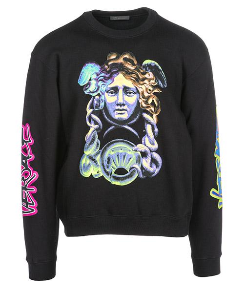 Sweatshirt Versace Medusa Icon A80431A226514A008 nero