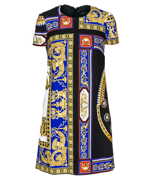 Robe courte  Versace The lovers A80558-A226712_A7900 nero