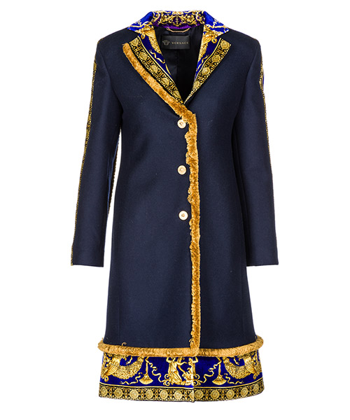 Cappotto Versace A80578-A108037_A1384 blu