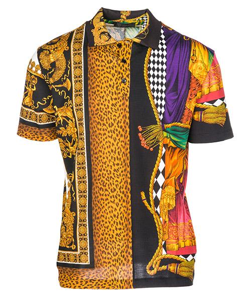 Polo t-shirt Versace A80897A227366A708 nero