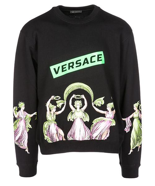 Sweatshirt Versace Medusa Icon A80933A226514A008 nero