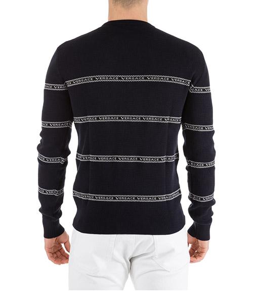 Men's crew neck neckline jumper sweater pullover slim secondary image