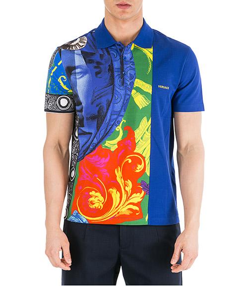 Poloshirt Versace Grecia A81501-A228174_AT4_XS_A707__ blu