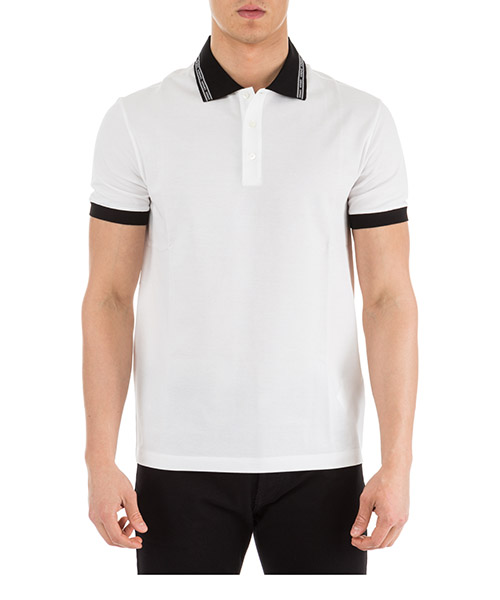 96d013b495d Polo Versace A81896-A223004 A001 bianco T-shirt manches courtes col polo  homme secondary image