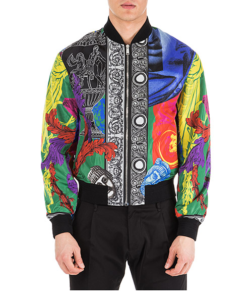 Men's nylon outerwear jacket blouson