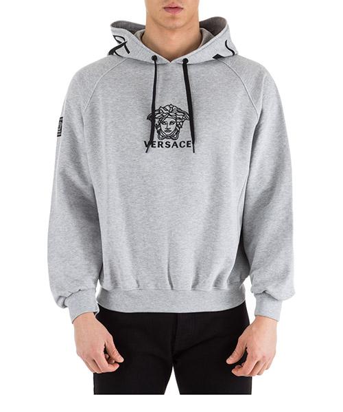 Hoodie Versace Medusa A82137-A228553_A904B grigio