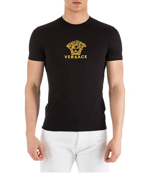 T-shirt Versace A82396-A224589_A92Y nero - oro