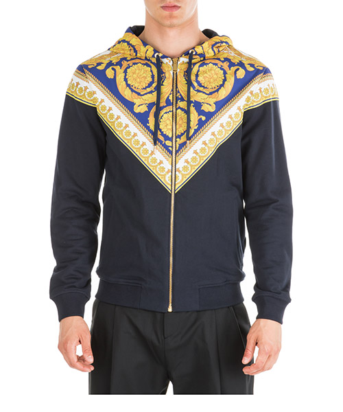 Zip-up sweatshirt Versace Gold Barocco A83088-A230627_A741 nero