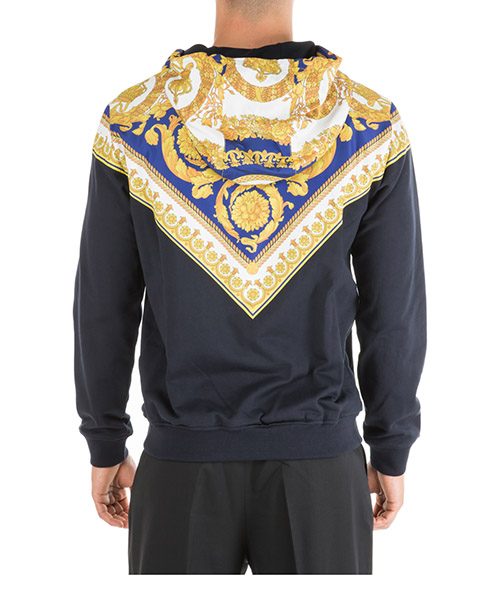 Hommes sweat avec zip gold barocco secondary image