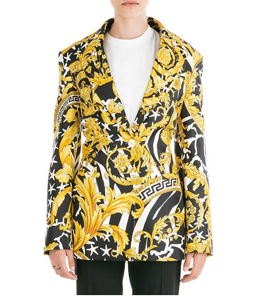 Blazer Versace savage barocco a83183-a230808_a7900 giallo