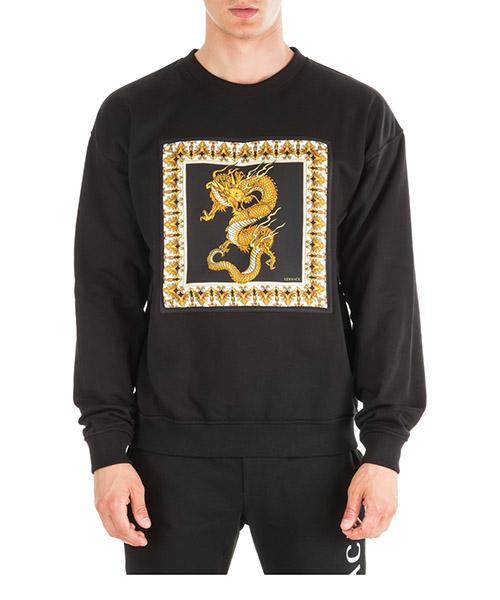 Sweatshirt Versace Dragon A83533-A228146_A008 nero