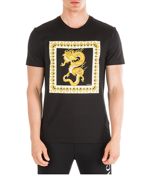 T-shirt Versace Dragon A83583-A230782_A008 nero