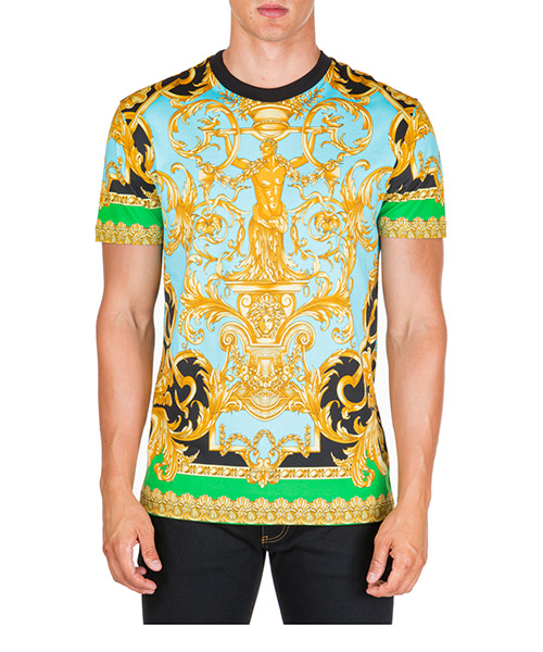 T-shirt Versace Barocco Homme A83904-A231482_A78Y verde