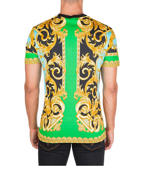 T-shirt maglia maniche corte girocollo uomo barocco secondary image