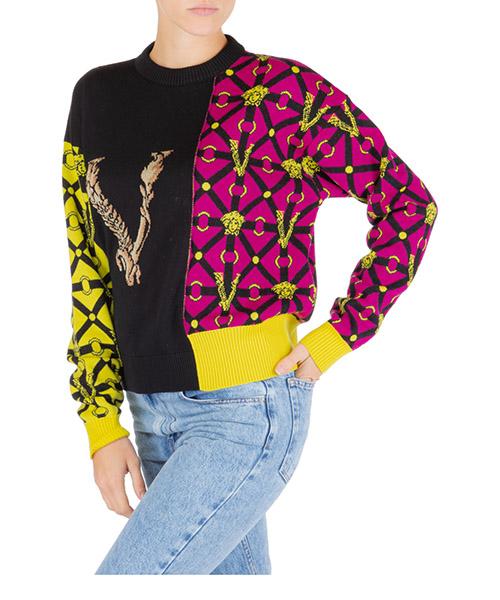 Maglione Versace patchwork a84859-a232190_a7000 nero
