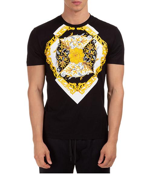 T-shirt Versace barocco a87375a231463a1008 nero