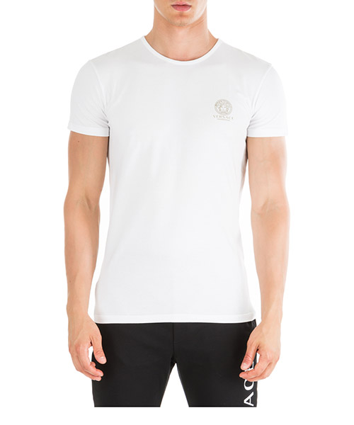 T-shirt Versace AUU01005-AC00059-A001 bianco