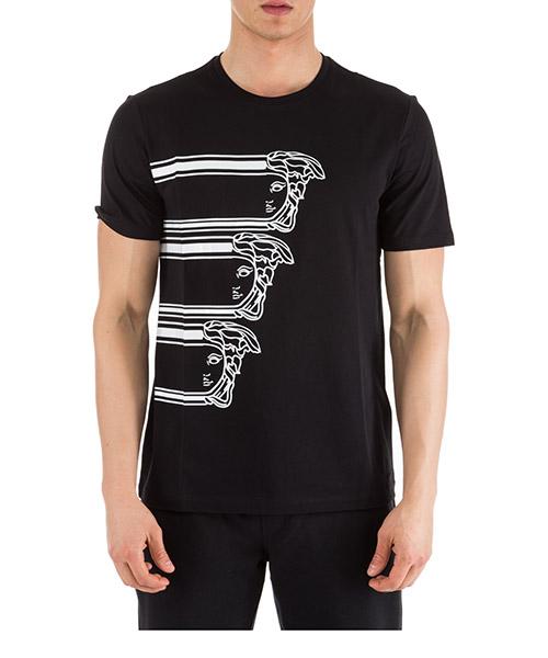 T-shirt Versace Collection Medusa V800683R VJ00595 V7008 nero