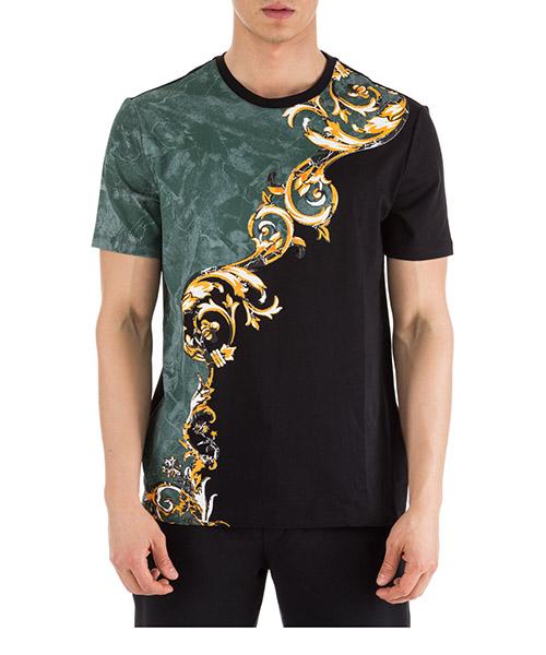 T-shirt Versace Collection V800683R VJ00598 V7008 nero