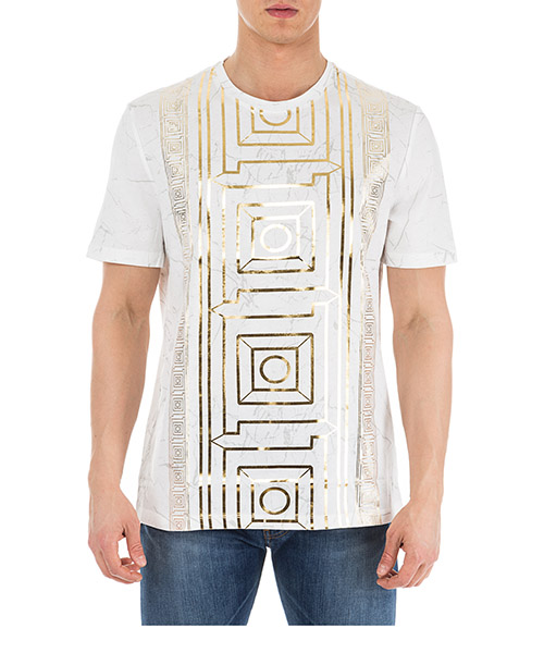 Camiseta Versace Collection V800683R VJ00599 V7001 bianco