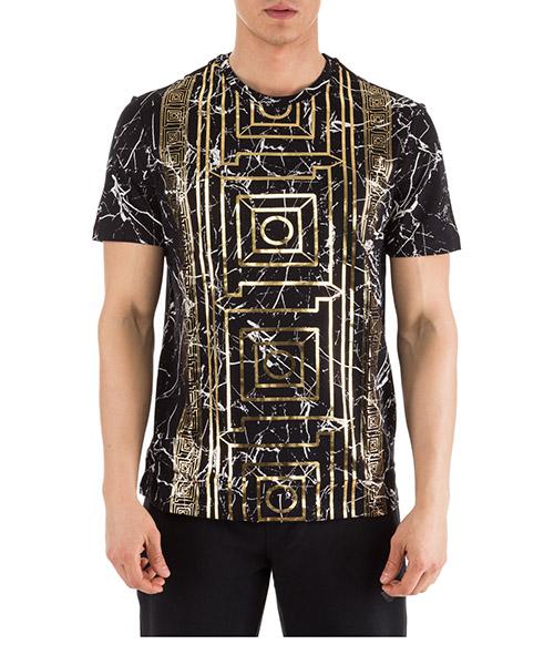 T-shirt Versace Collection V800683R VJ00599 V7008 nero