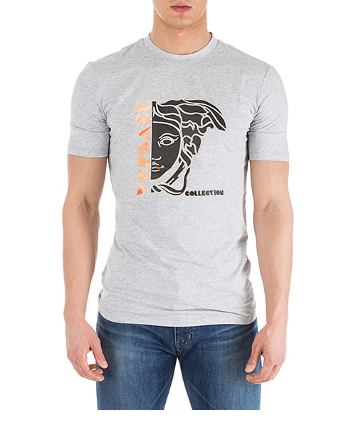 Camiseta Versace Collection Medusa V800862D VJ00601 V7653 grigio melange