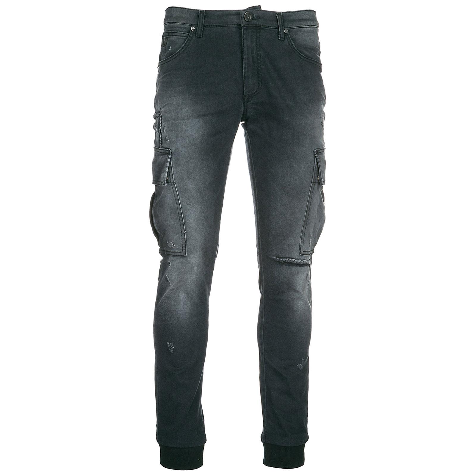 Jeans uomo skinny stretch grafeno
