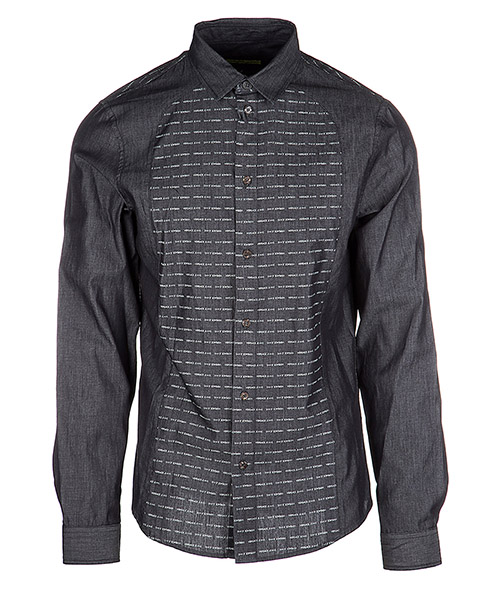 Men's long sleeve shirt dress shirt contrast midi