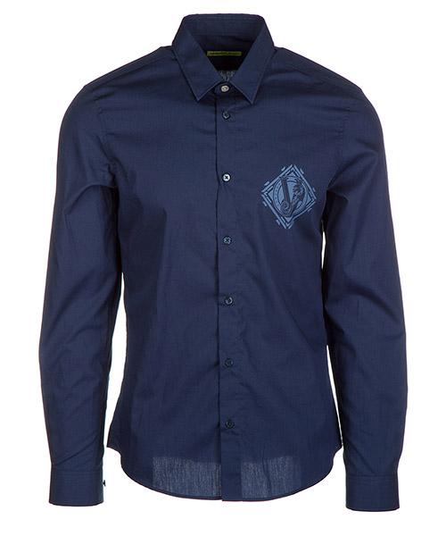 Camicia Versace Jeans B1GQA6S0 blu