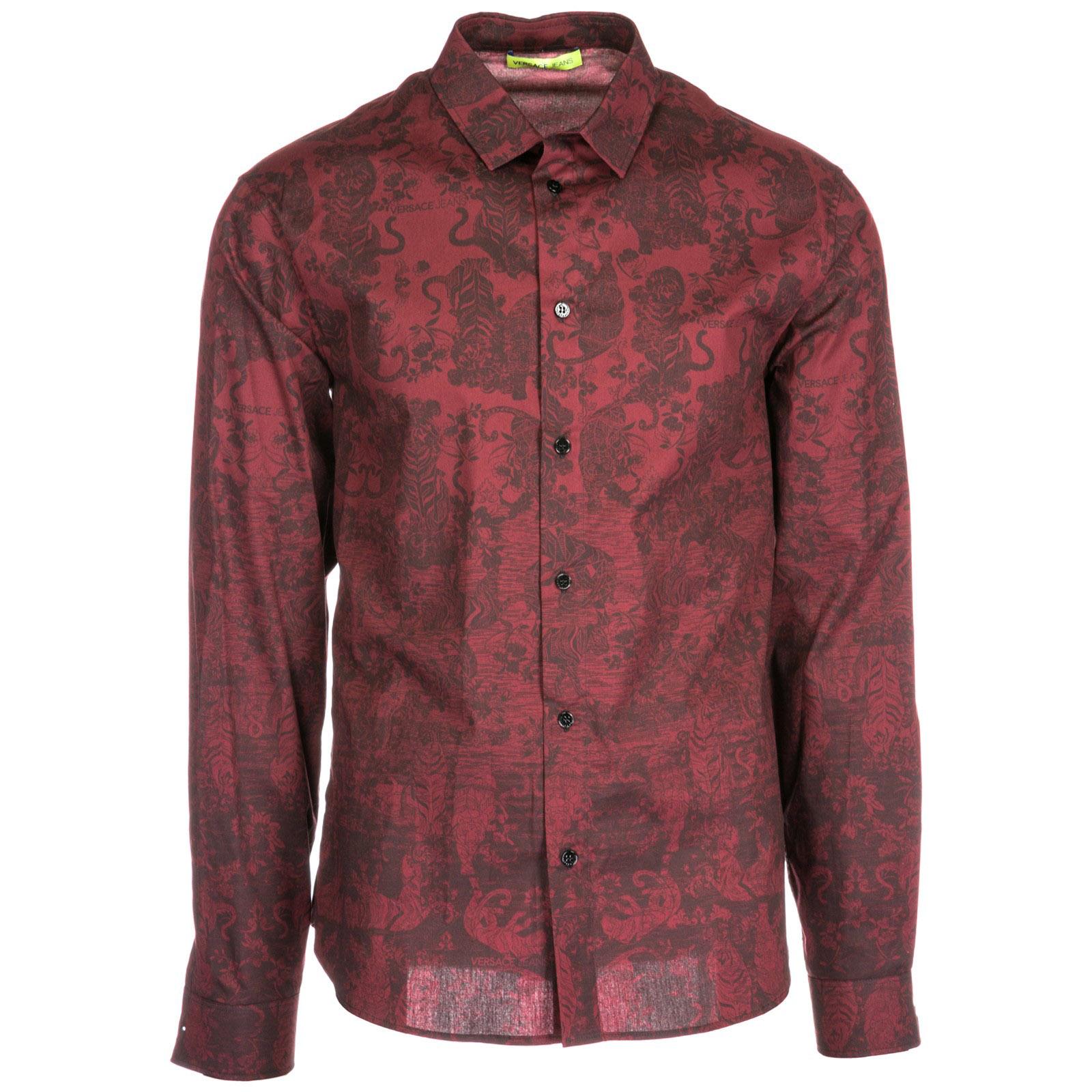 ff93fe8a7035b47 Рубашка Versace Jeans B1GSA6R5 bordeaux | FRMODA.com