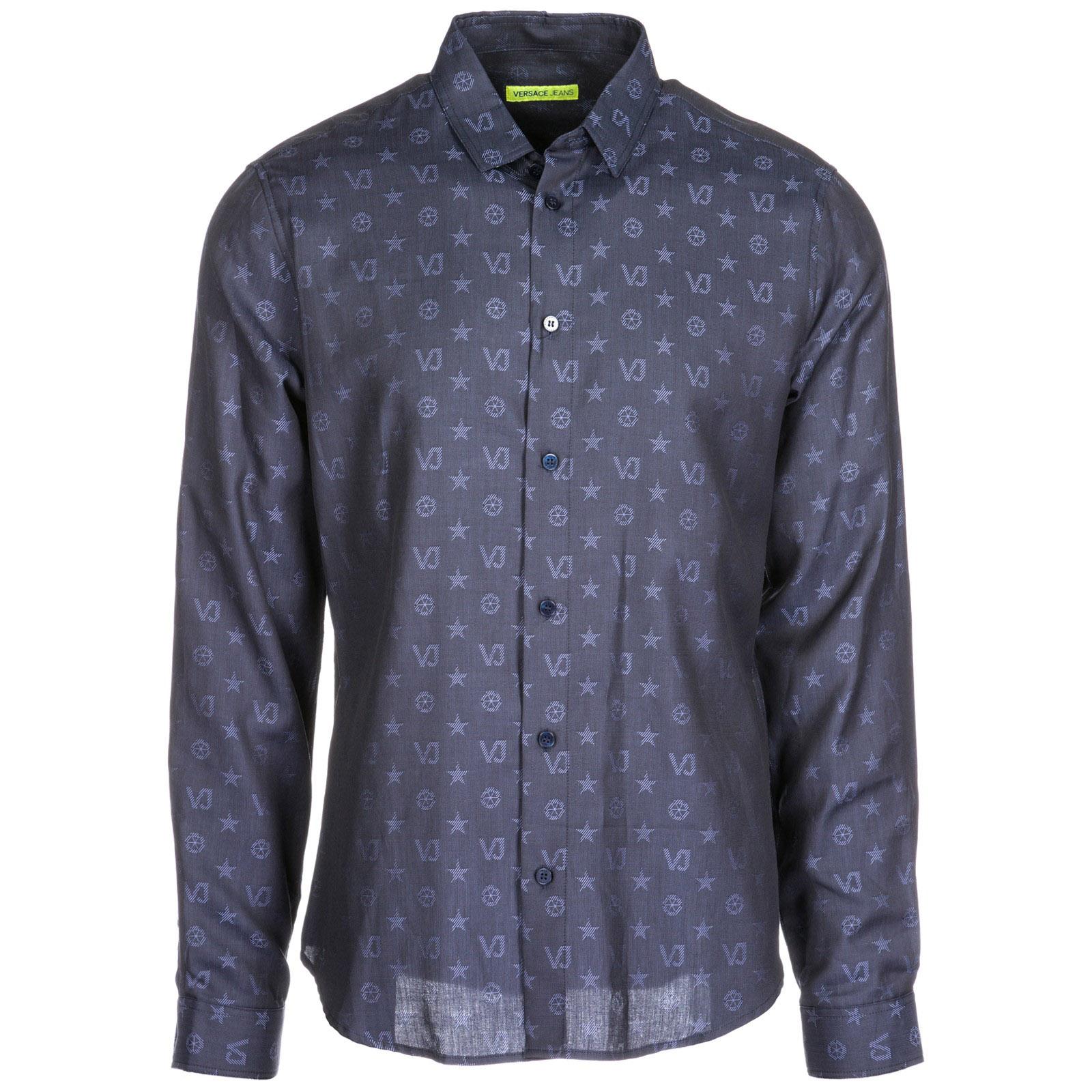 ab434a81198 Chemise Versace Jeans B1GSA6S0 08787 blu