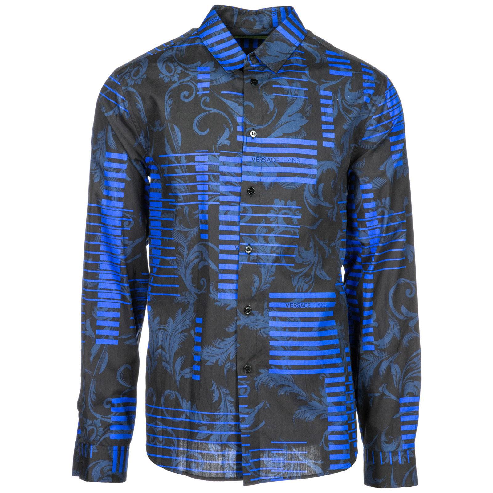 ced899cff4e54e0 Рубашка Versace Jeans B1GSB6R0 blu | FRMODA.com