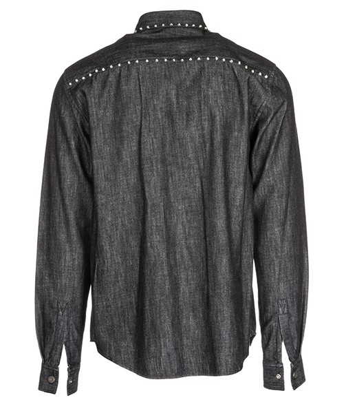 Camicia uomo maniche lunghe in denim jeans secondary image