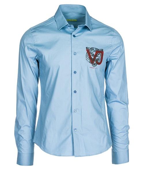 Camicia Versace Jeans B1GSA6E0 24454 blu