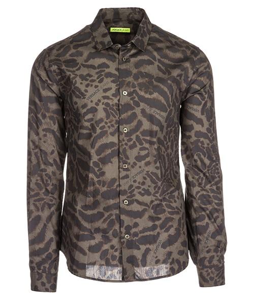 Camicia Versace Jeans B1GSA6S0 S0449 verde