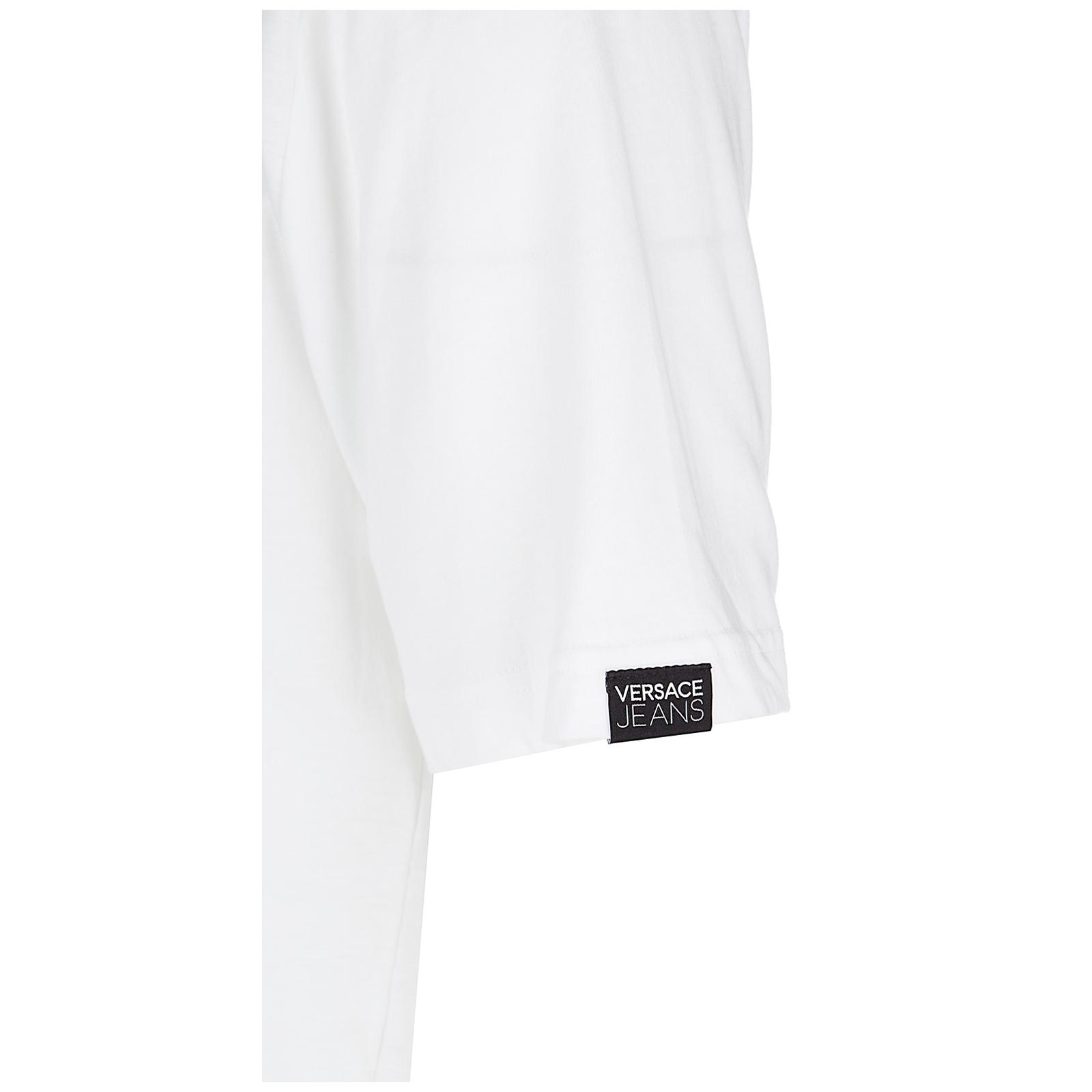Men's short sleeve t-shirt crew neckline jumper jersey mark