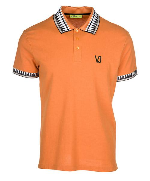 Polo t-shirt Versace Jeans B3GRB7P1 arancione