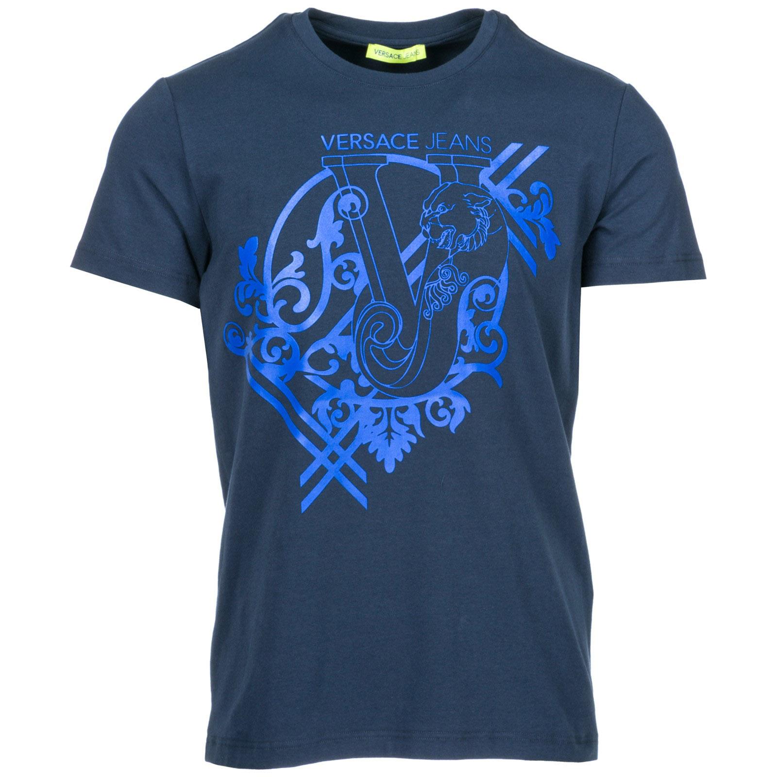 T-shirt Versace Jeans B3GSB74G blu   FRMODA.com ae872cbdff78