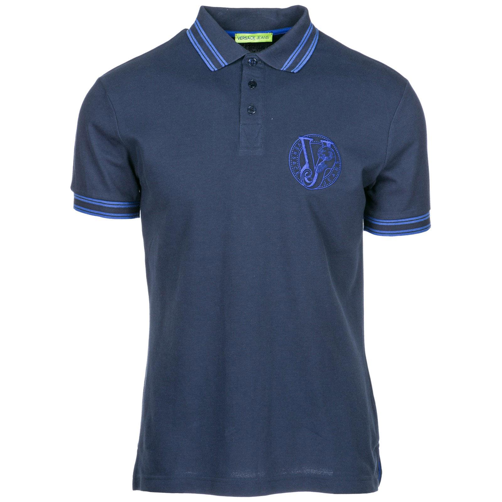 Polo Versace Jeans B3GSB7P1 36571 blu   FRMODA.com e5cd5699d75