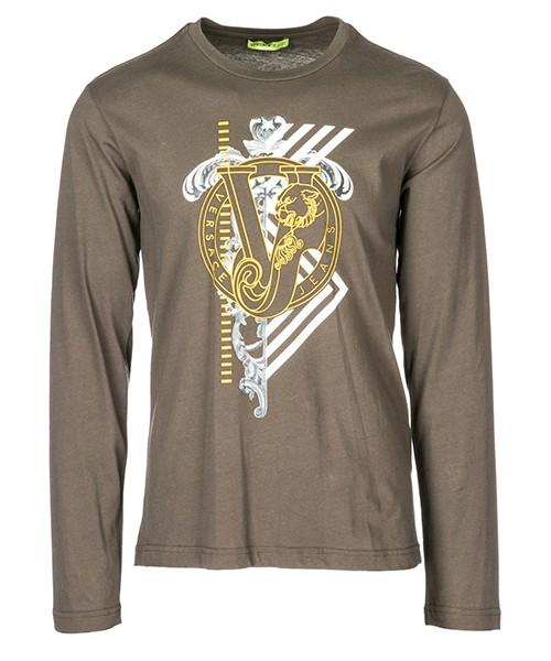 Long sleeve t-shirt Versace Jeans B3GSA73I verde